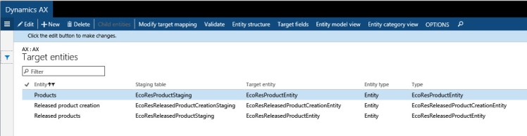 How to use Data Management around products entities – Dynamics 365